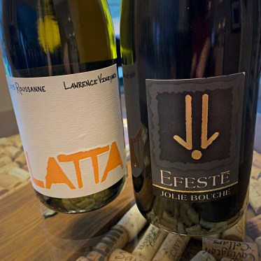 Latta Rousanne and Efeste Syrah