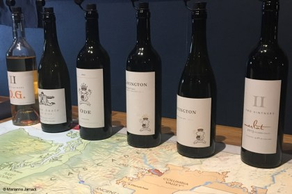 Two Vintners and Covington Cellars tasting lineup