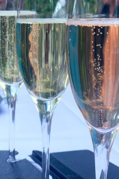 Sparkling wine at Karma Vineyards, Lake Chelan, WA
