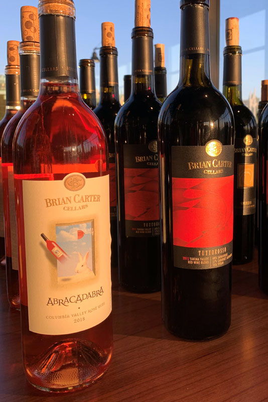 Brian Carter Cellars bottle lineup