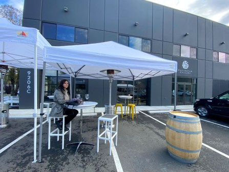 The Vault in Maltby Two Vintners outdoor tasting