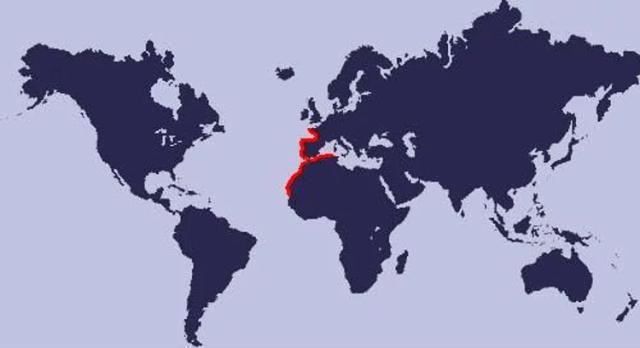 mapa de distribución del percebe