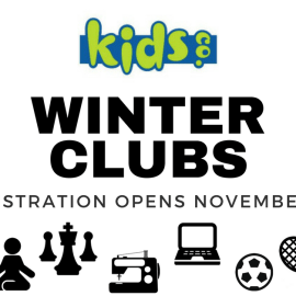 2018 Winter KidsCo Club Information