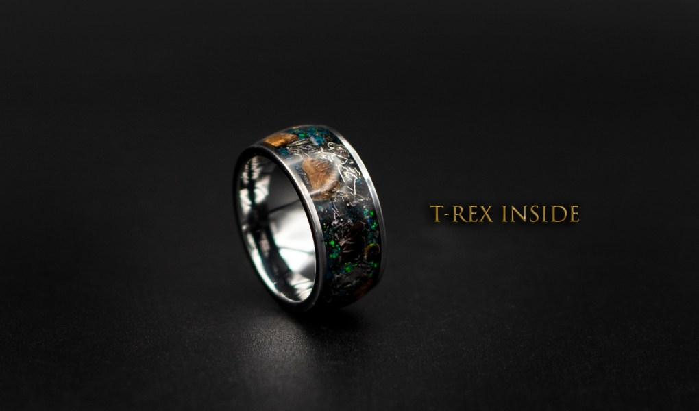 Dinosaur bone ring