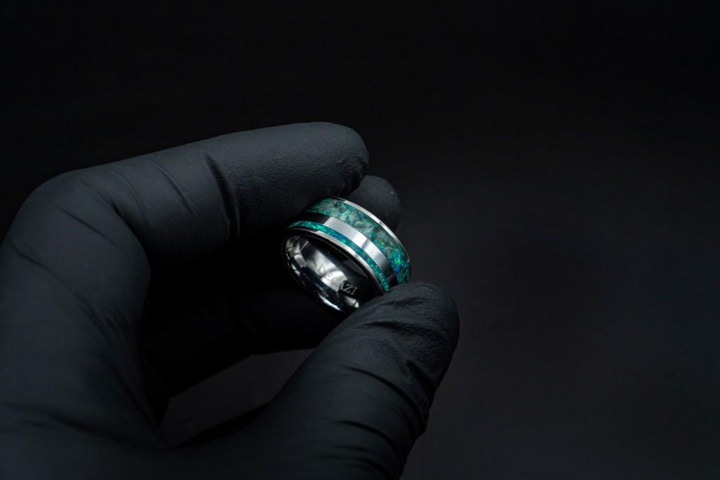 Quantum Quattro Crystal Healing Ring | Chrysocolla Rings | Decazi