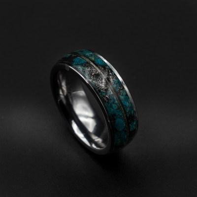meteorite gold ring