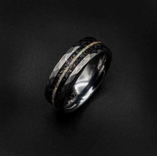Moonstone band ring