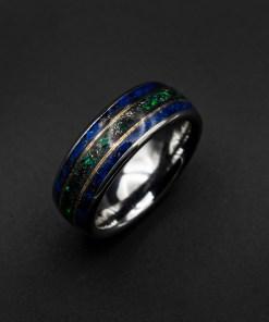 Mens meteorite ring