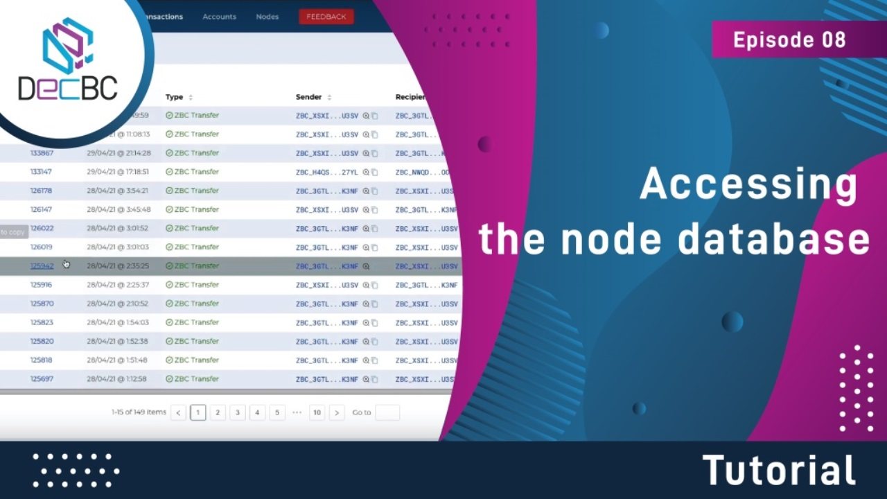 Accessing the node database