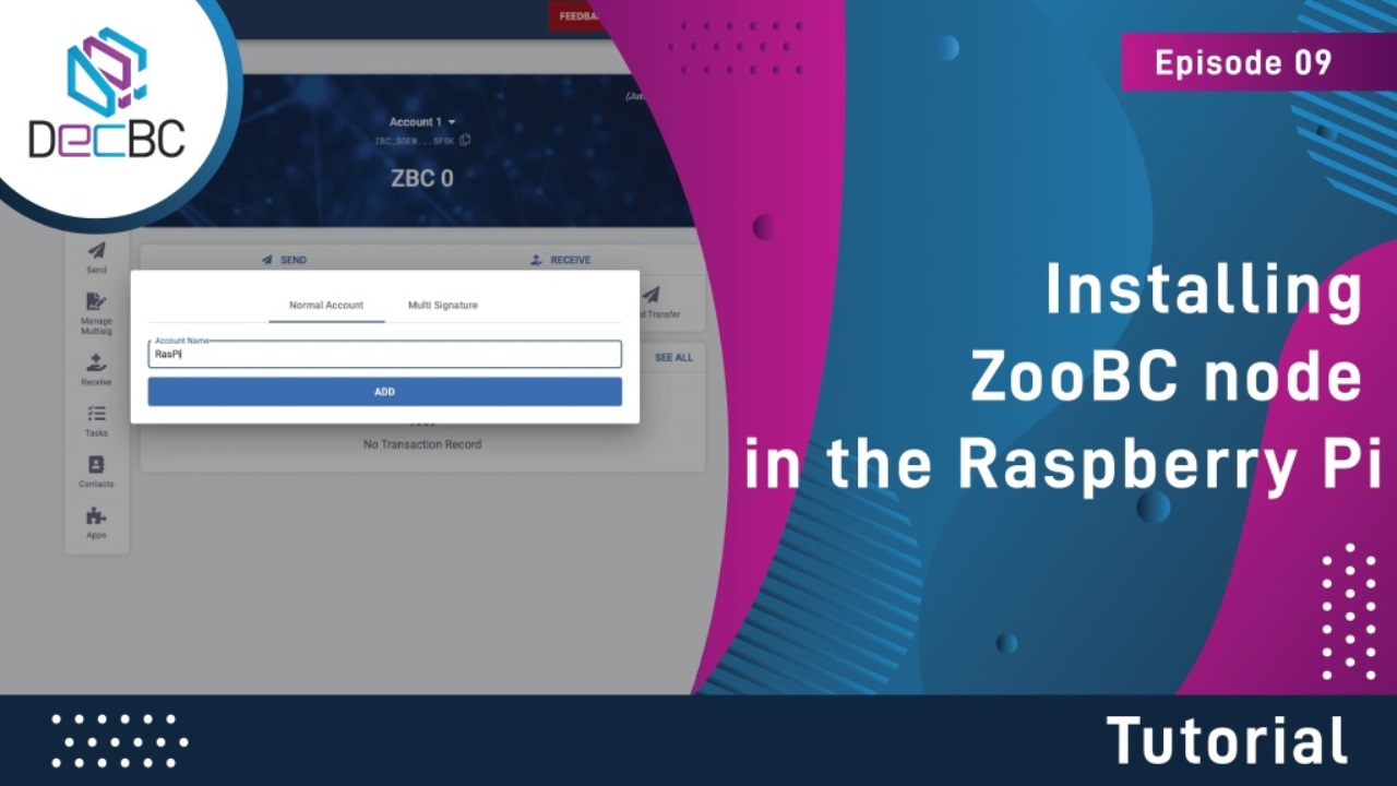 Installing ZooBC node in the Raspberry Pi
