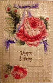 A birthday postcard from the early 20th century.