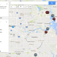 Google Map of Hurricane Harvey's Toxic Releases