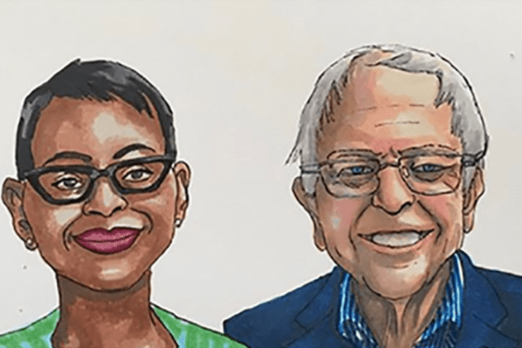 Bernie Sanders and Nina Turner