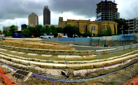 Gentrification pressures have followed the construction of San Pedro Creek Culture Park.