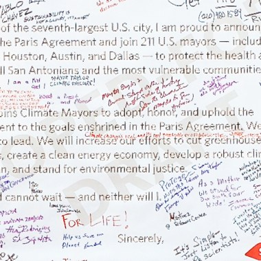 San Antonio Demands Climate Action Banner (detail)