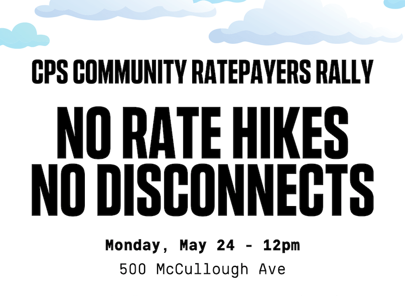 cps energy disconnections rally