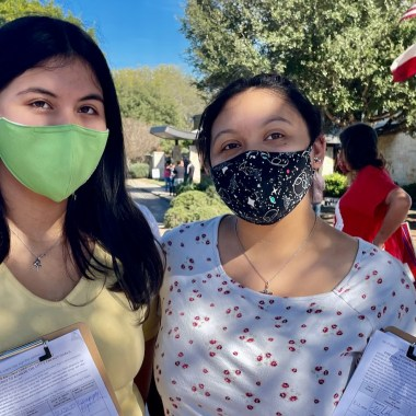 Recall CPS Energy petition gatherers in November 2020.