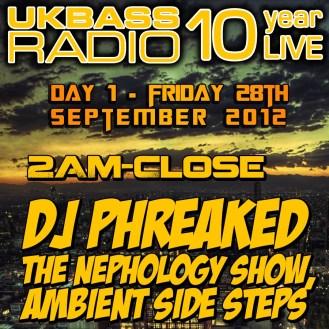 UK Bass Radio 10th Anniversary Weekend 8