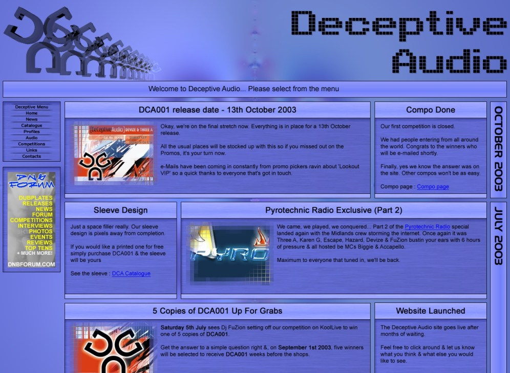 Deceptive Audio Website - v1.0