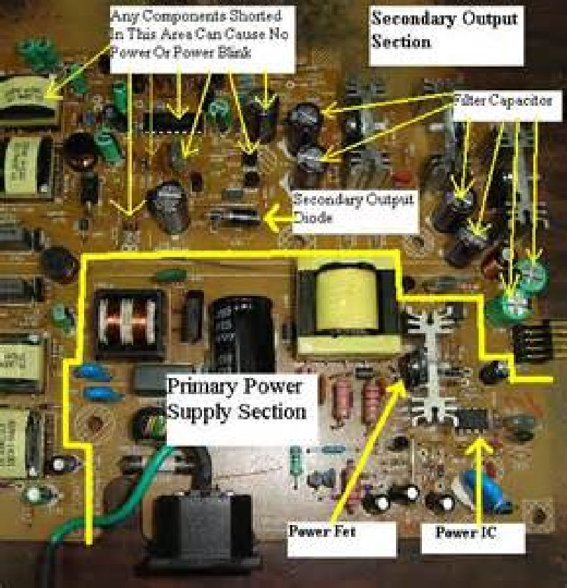 Lcd Tv Power Supply Smps Schematic Circuit Diagram Electro