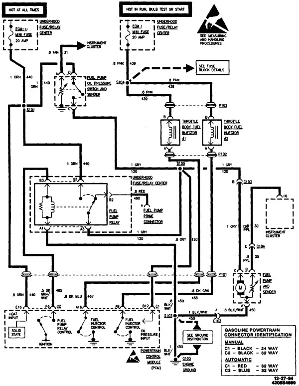 1991 Chevy 1500 Fuel Pump Wiring Diagram. Chevy. Wiring