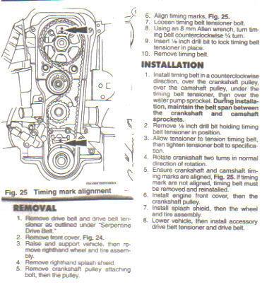 4 0 Sohc Engine Diagram 2001 Ford Focus Zx3 Broke Timing Belt No Timing Marks