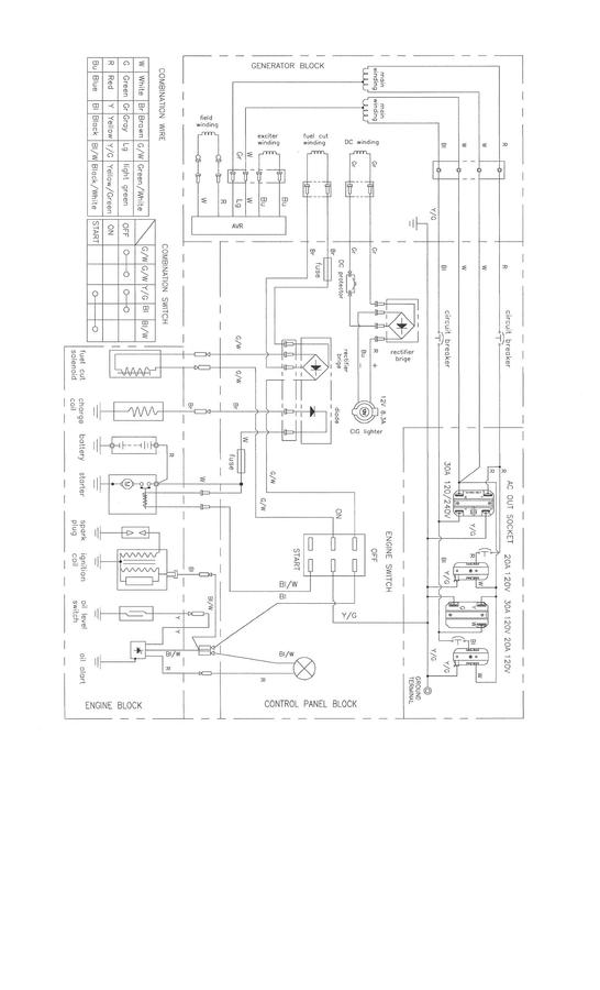 2 way switch wire diagram tao 110 atv wiring where can i find a for harbor freight 7000/8750 watt gener... | diy forums