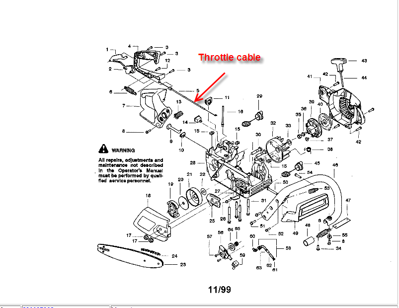What Is The Throttle Cable Routing On A 358.350260