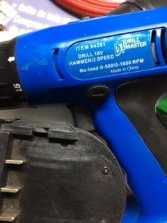 Drill Master 18v Cordless Drill 91396