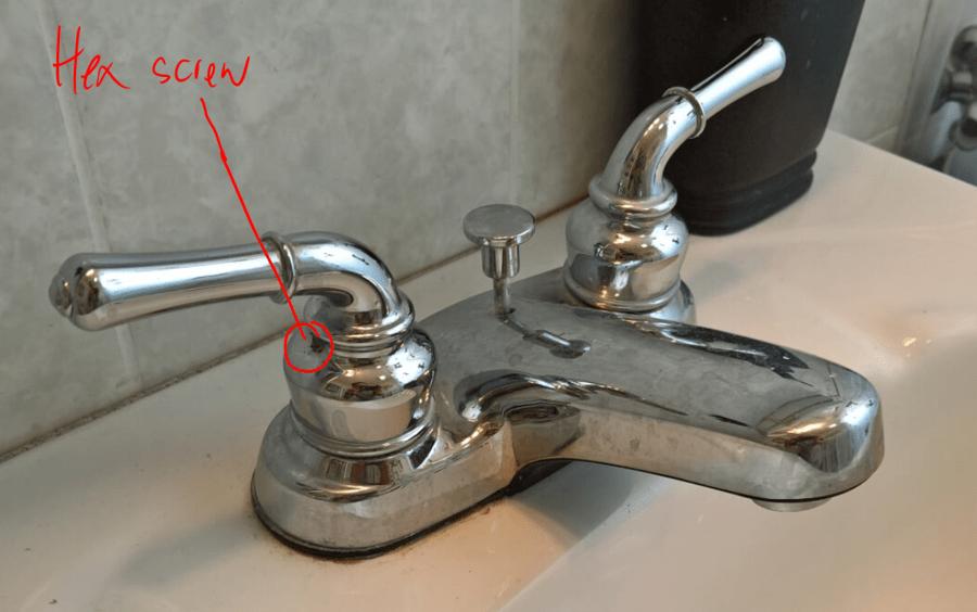 Leaking Bathroom Faucet Stripped Hex Screw  DIY Forums