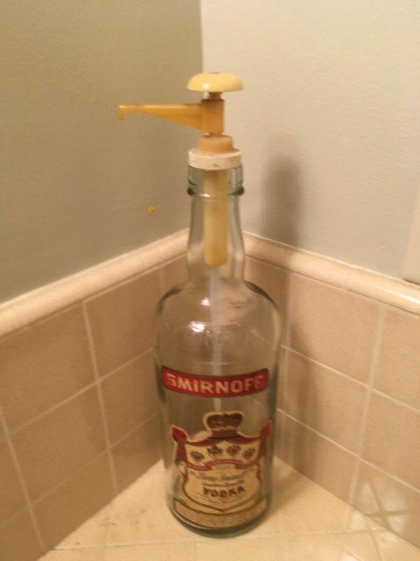 1 Gallon 1818 Smirnoff Vodka Bottle With Plastic