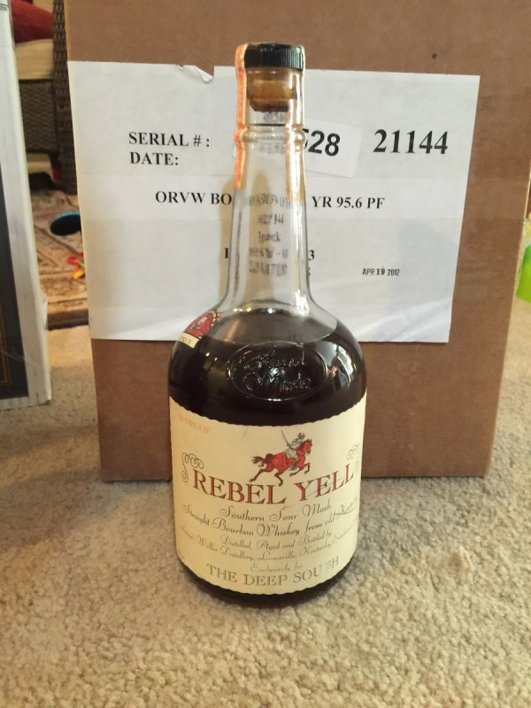 Bottle Of Rebel Yell Bourbon - 1972 Drinks Planet