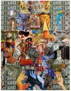 "Robert Swedroe, Changing Hands (2008), Mixed Media on Board, 24"" x 32"""