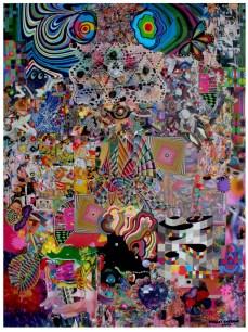 """Robert Swedroe, Dog Dreams (2007), Mixed Media on Board, 24"""" x 32"""""""