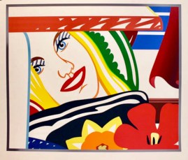 Tom Wesselmann From Bedroom Face #41, 1990 Silkscreen on paper 59 1/2 × 67 1/2 in Ed 100 $19,500 Unframed, good condition