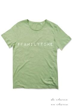 camiseta hombre familytime verde www.decharcoencharco.com