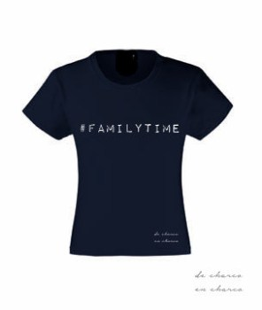camiseta niña familytime navy www.decharcoencharco.com