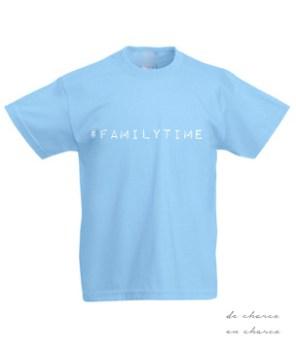 camiseta niño familytime azul www.decharcoencharco.com