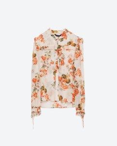 Blusa estampada ZARA 29,95€