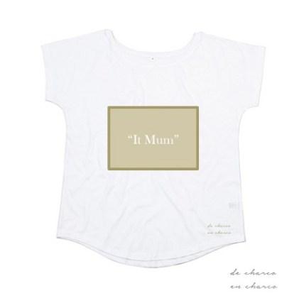 camiseta mujer it mum rectangulo caqui 2 www.decharcoencharco.com