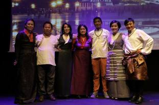 The Banned Expression team, (l-r) Sonam, Ugyen Choephell, Kunsang Kelden, Dechen Pemba, Palden, Youdon Aukatsang and Ngawang Lodup