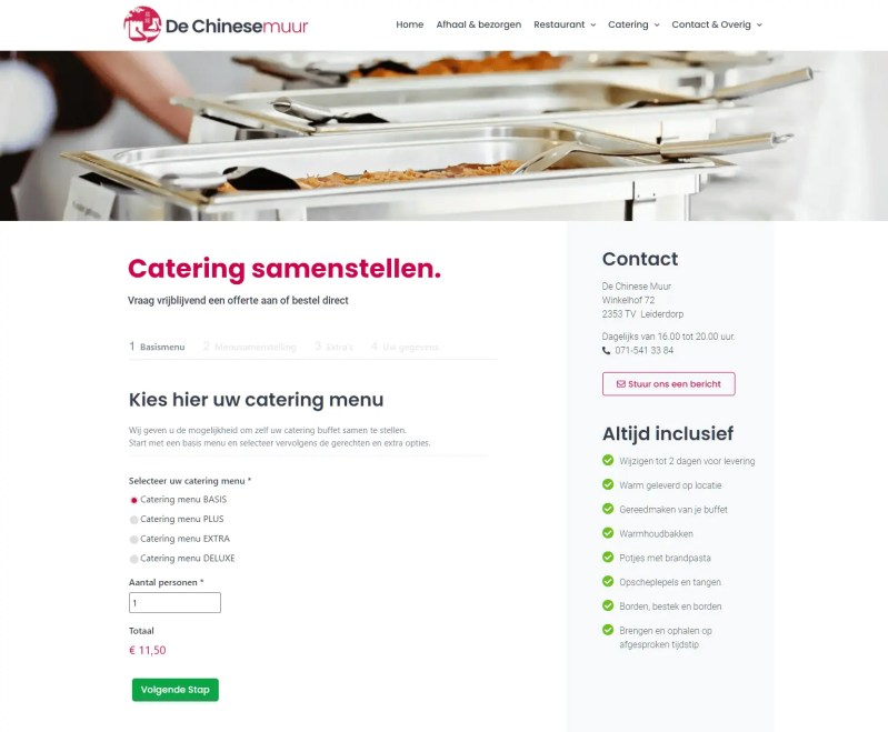 Chinese Catering Samenstellen