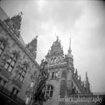 Another Holga shot of city hall. Camera: Holga 120N Film: Kodak Tri-X