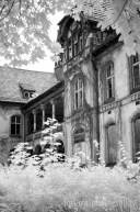 The Men's Sanatorium is the biggest of the buildings at Beelitz, and the first completed (in 1902). Camera: Canon Rebel XT converted to Infrared