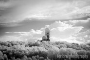 After we left the listening station, we drove to a hill across the park to get some shots of it from afar. A little too far, as it turned out, but I did like this infrared shot. Camera: Canon Rebel XT converted to Infrared