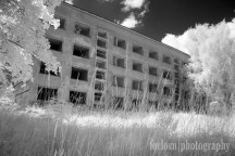 And here's an ugly Soviet building in Infrared! (Camera: Canon Rebel XT converted to Infrared)