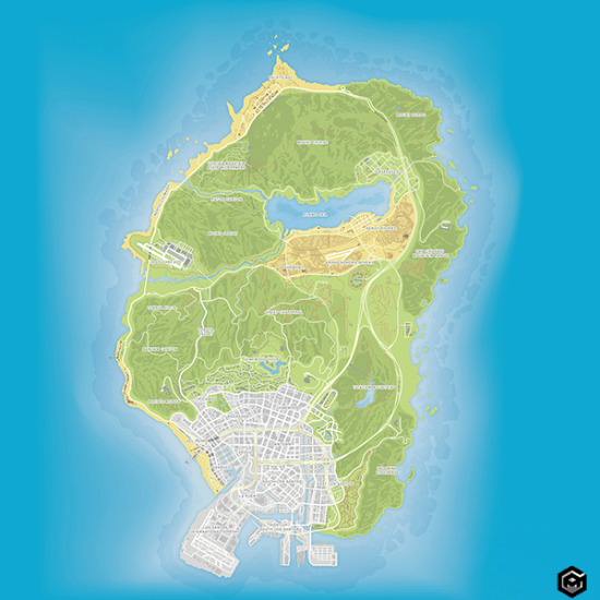 GTA 5 map official