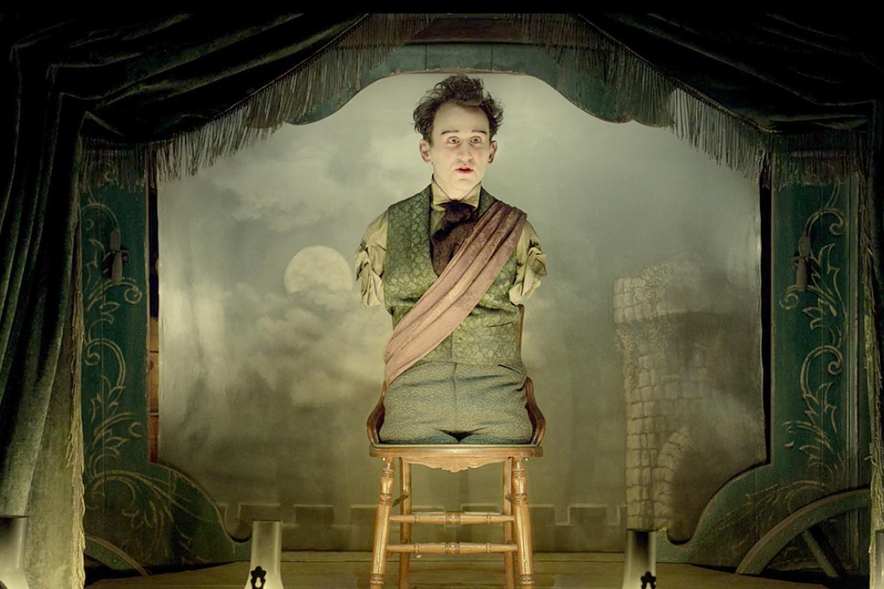 Harry Melling em A Balada de Buster Scruggs, da Netflix
