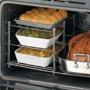 Thanksgiving Dinner Hacks - Have enough Oven Space? Consider getting a rack or recipes that don't need the oven