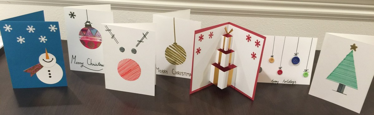 Simple DIY Christmas Cards